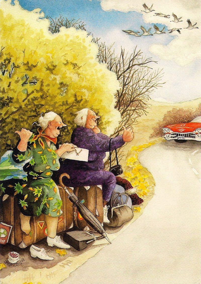И снова - для хорошего настроения, которое всегда нужно, особенно в нашем возрасте...
