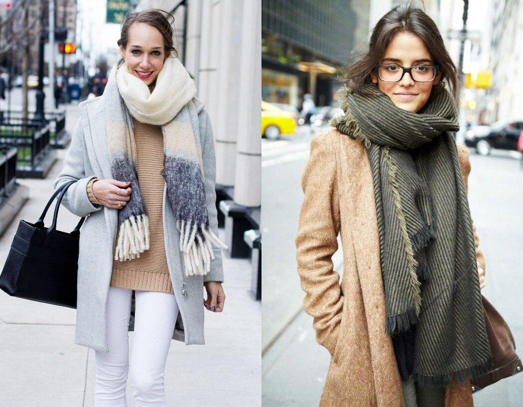 Обмотайте шарф вокруг шеи и оба конца оставьте спереди. © Getty Images
