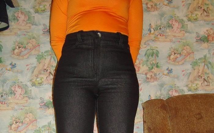 Готовый гульфик на женских брюках, сшитых своими руками, вариант 3