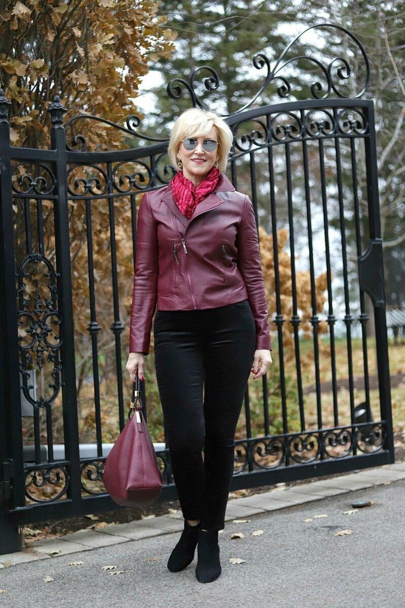 Куртка-косуха и образы для элегантной и стильной женщины 50+