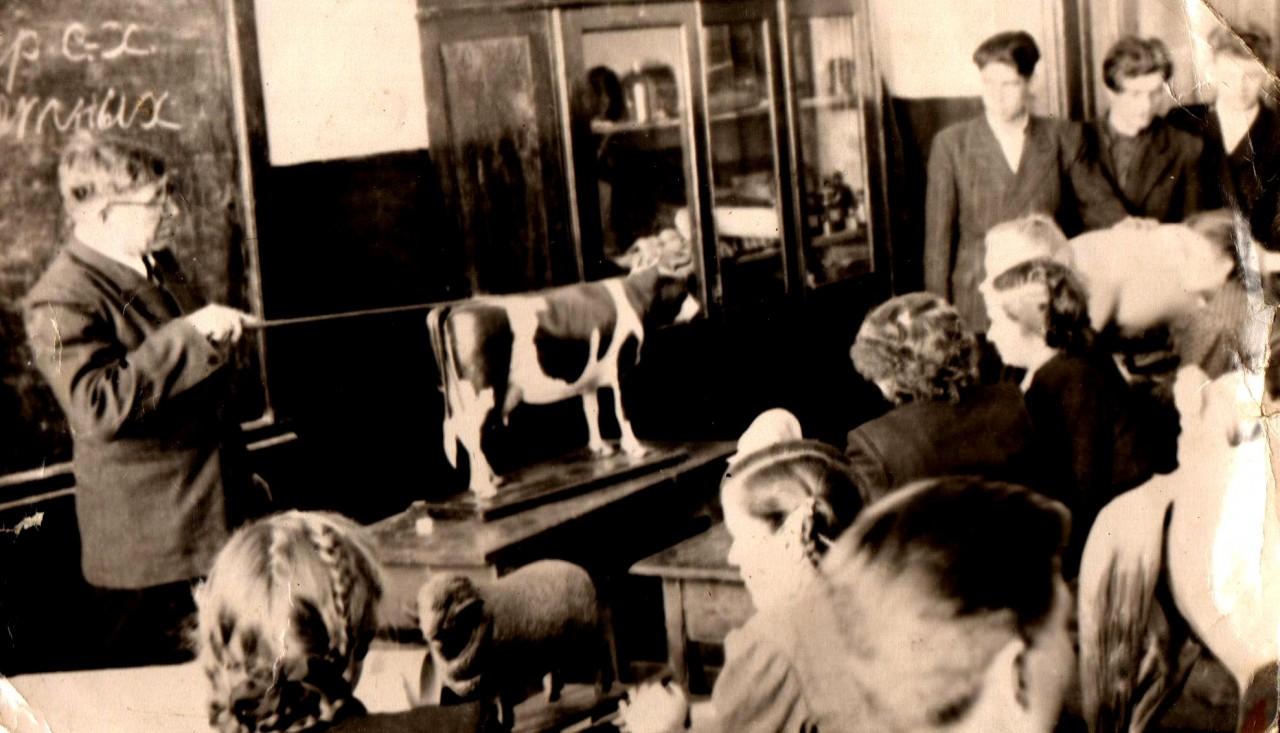Просто фото 1950-1953гг. Агрошкола (Сельхозтехникум) в СССР- подготовка кадров агрономов широкого профиля.