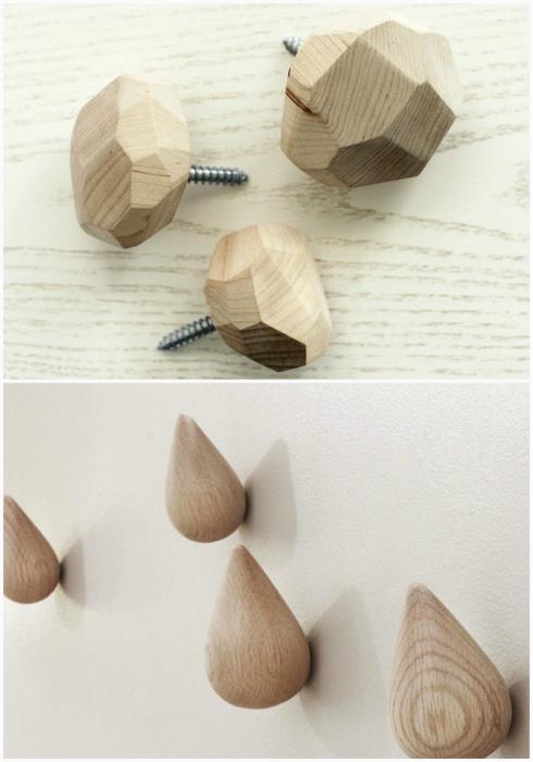 Мебельные ручки из дерева.