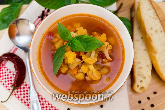 Пряный суп с нутом и цветной…