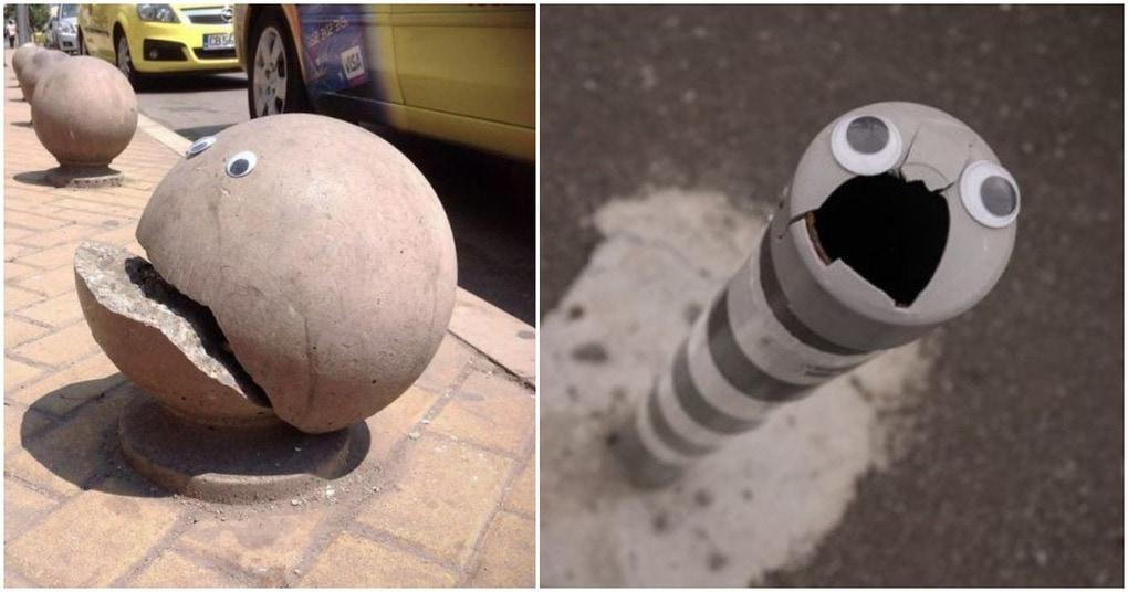 Глазастый стрит-арт — креативный подход к оформлению уличного ландшафта