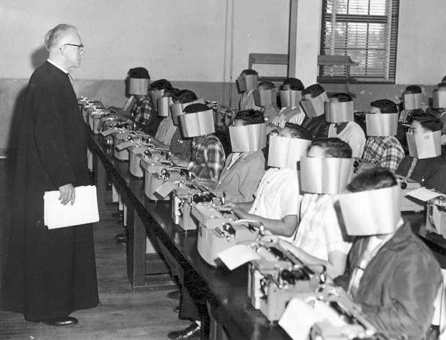 13. Урок машинописи в США, 1960-е интересно, исторические фото, история, ностальгия, фото