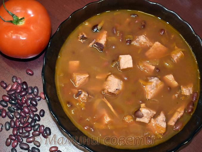 Фасолевый суп со свининой - просто и вкусно! рецепты