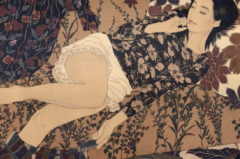 Творчество Икенага Ясунари — прекрасные девушки в японском стиле Nihonga