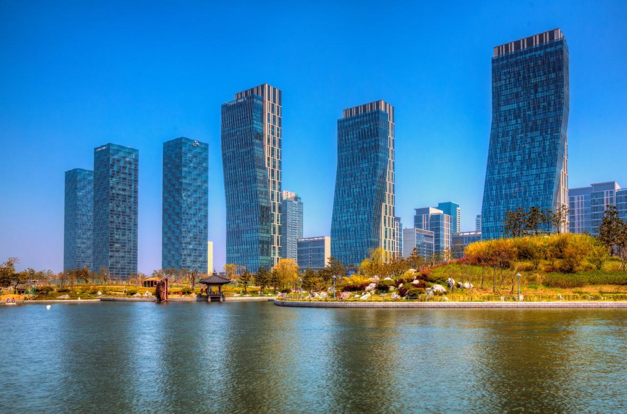 Энергоэффективность будущее, корея, сонгдо, технологии, умный город