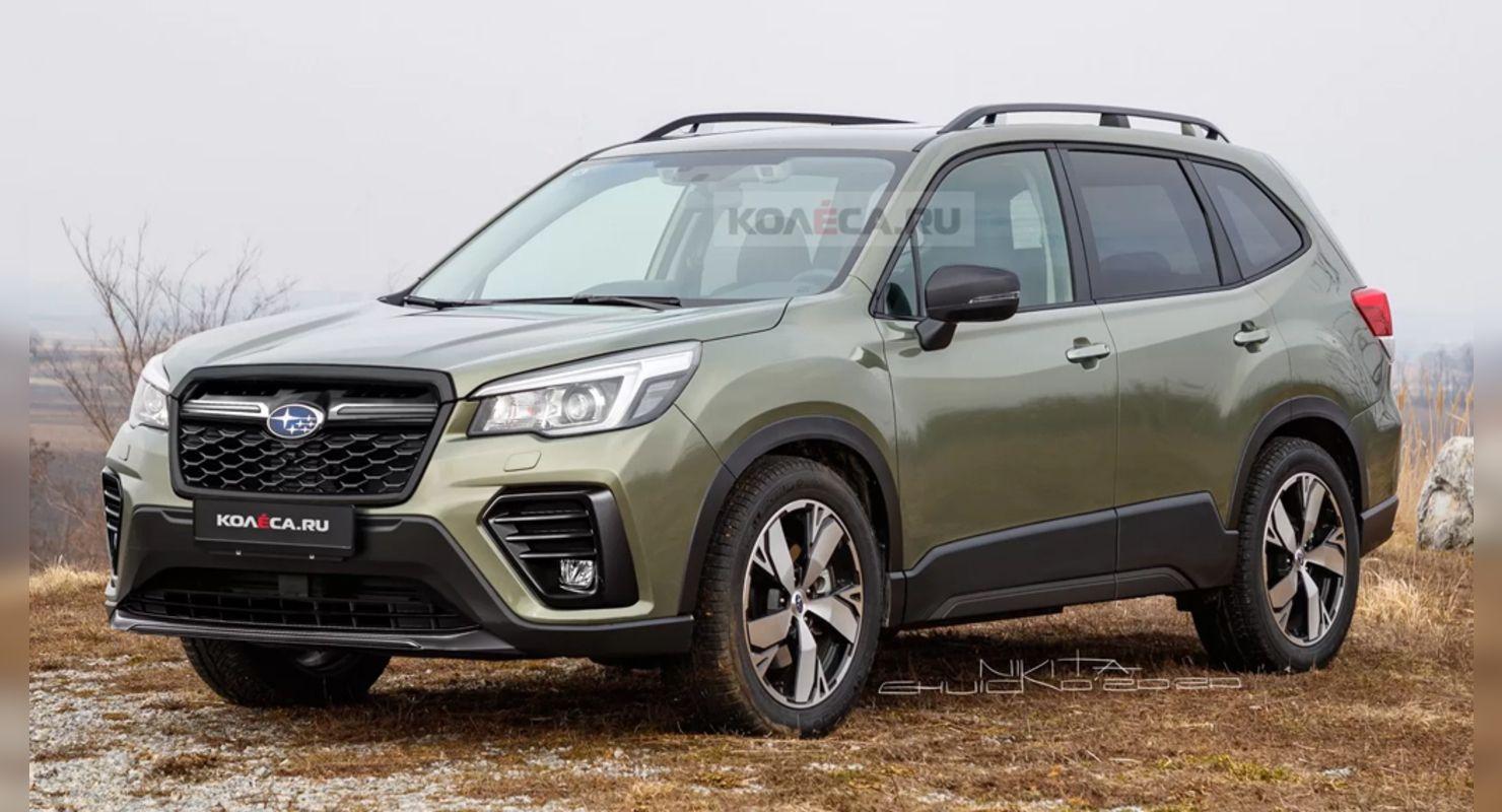 Появились первые рендерные изображения нового кроссовера Subaru Forester Автомобили
