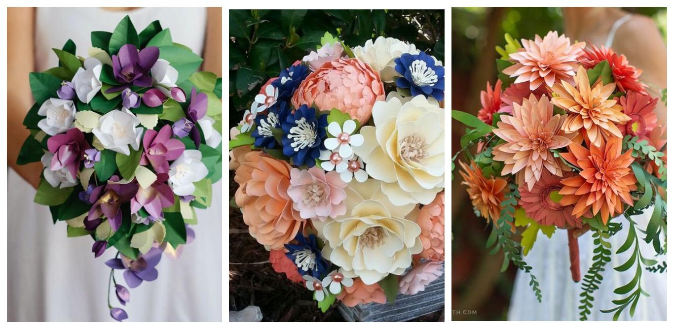 Бумажные цветы: 20 примеров особых букетов