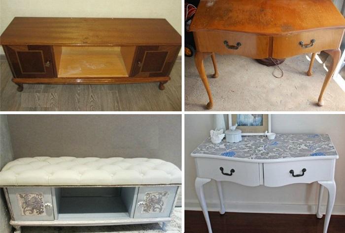 Функциональные варианты, как эффектно переделать старую советскую мебель (20 фото)