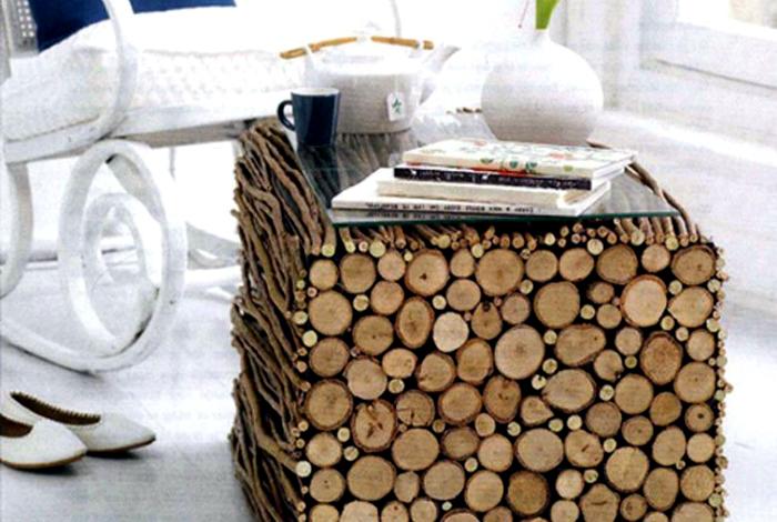 Кофейный столик из веток.