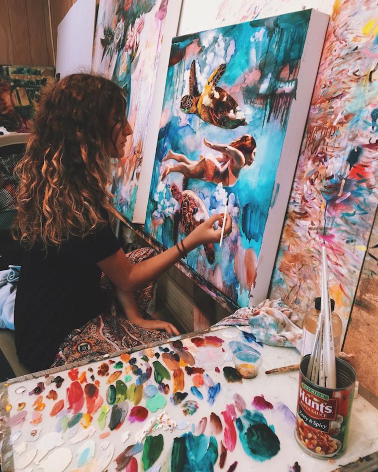Дверь в мир снов: картины 16-летней художницы Dimitra Milan