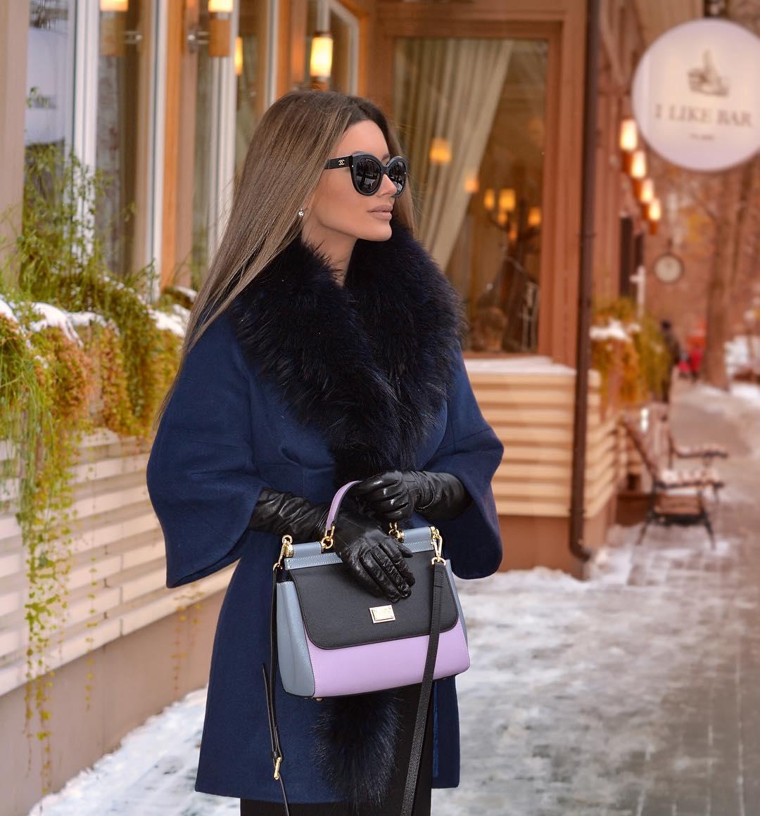 Образы стильной верхней одежды зима 2018