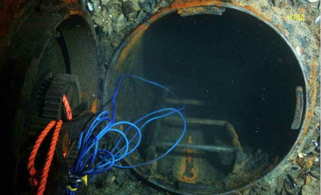 Дайверы открыли люк и проникли на затонувшую подлодку Л-24: видео