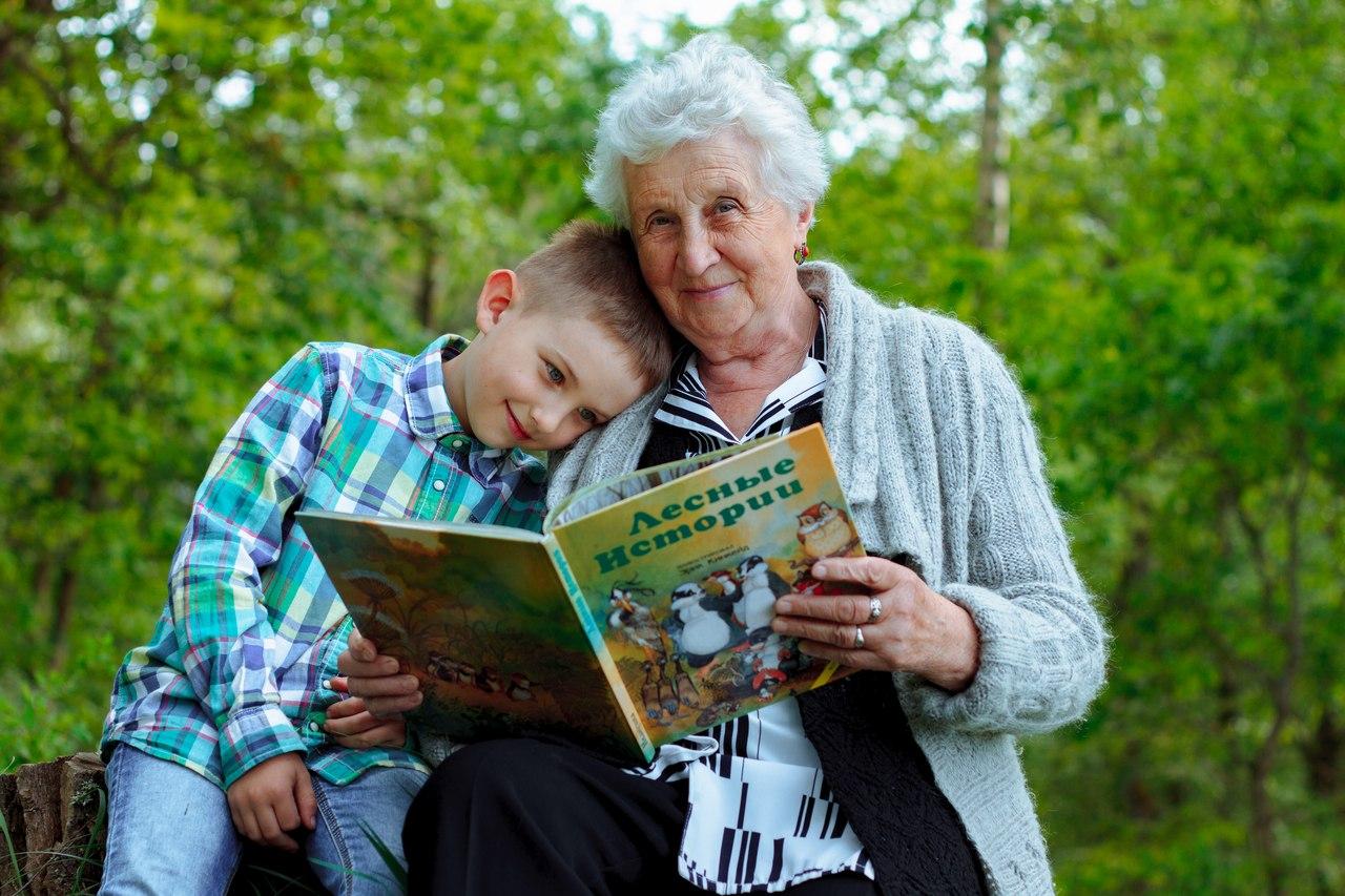 Картинки красивые бабушка с внучкой