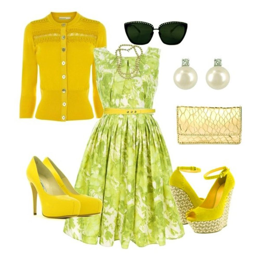 Сеты, чтобы прослыть модной штучкой —   как и с чем носить платье в цветочек