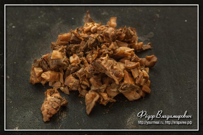 Картофельные оладьи с грибами по-венгерски