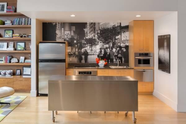 Черно-белые фотообои для кухни - фото 2017 современные идеи