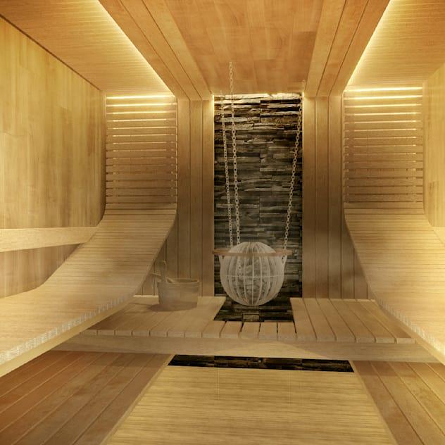 Сауна: Спа, бани, сауны в . Автор – Defacto studio