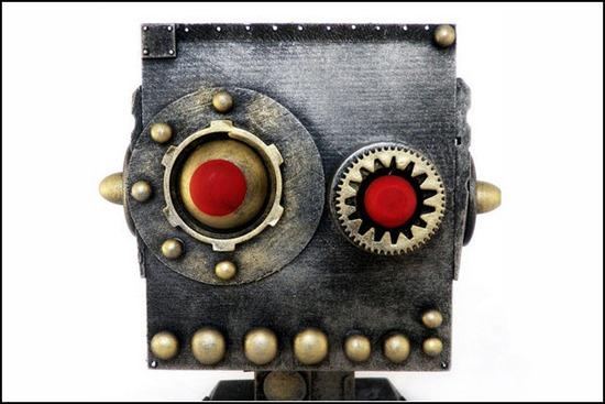 Железные роботы в стиле стимпанк от разных авторов