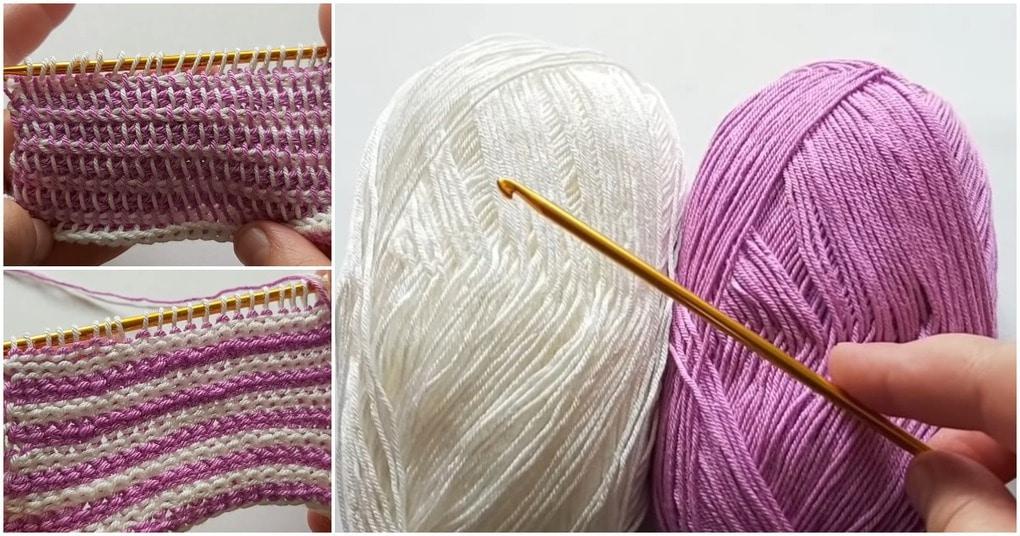 Предельно простое двухцветное вязание