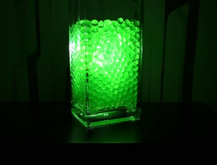 Уникальный светильник с гидрогелем.