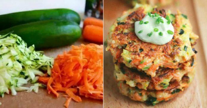 Полезный и сытный завтрак - хрустящие овощные оладьи!