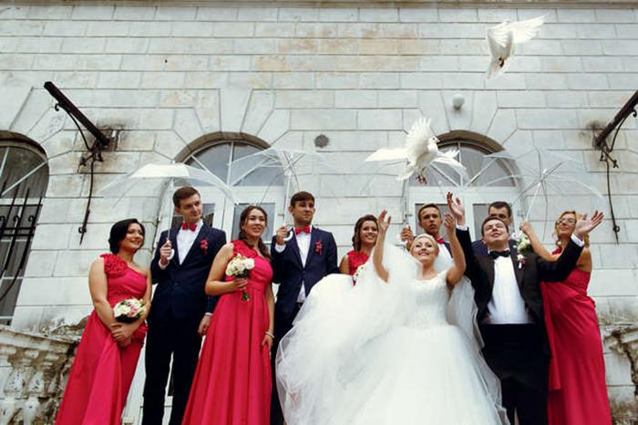 Свадебные голуби.