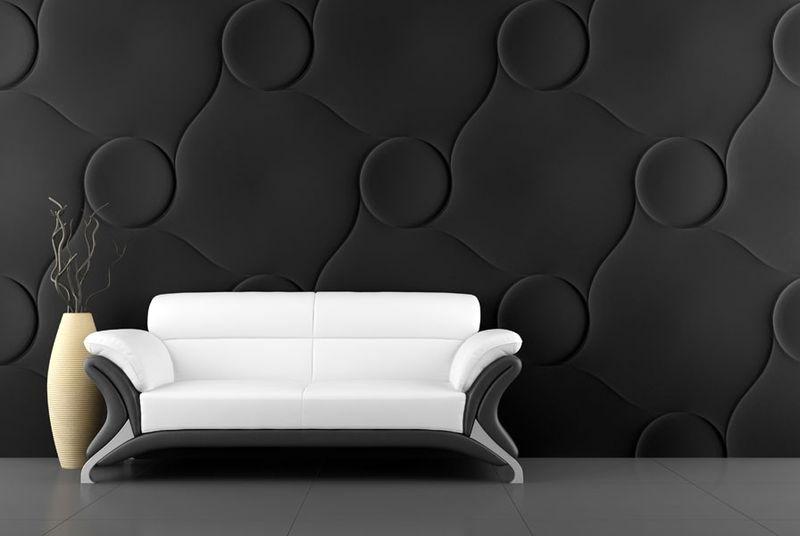 черные декоративные стеновые панели