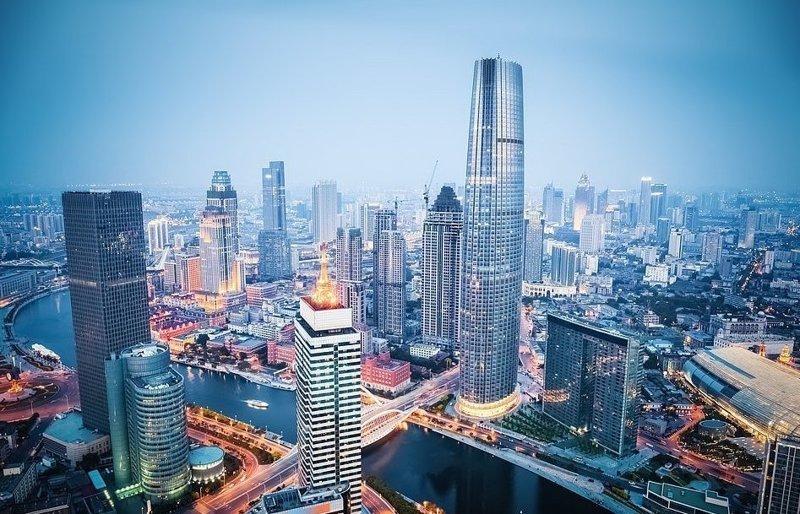 Деловая часть Тяньцзиня, третьего по величине города Китая виды, города, китай, красота, необыкновенно, пейзажи, удивительно, фото