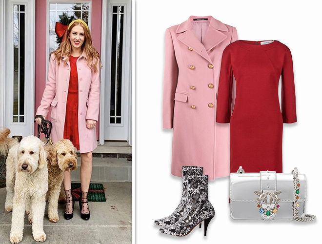 Яркое платье + цветное пальто фото
