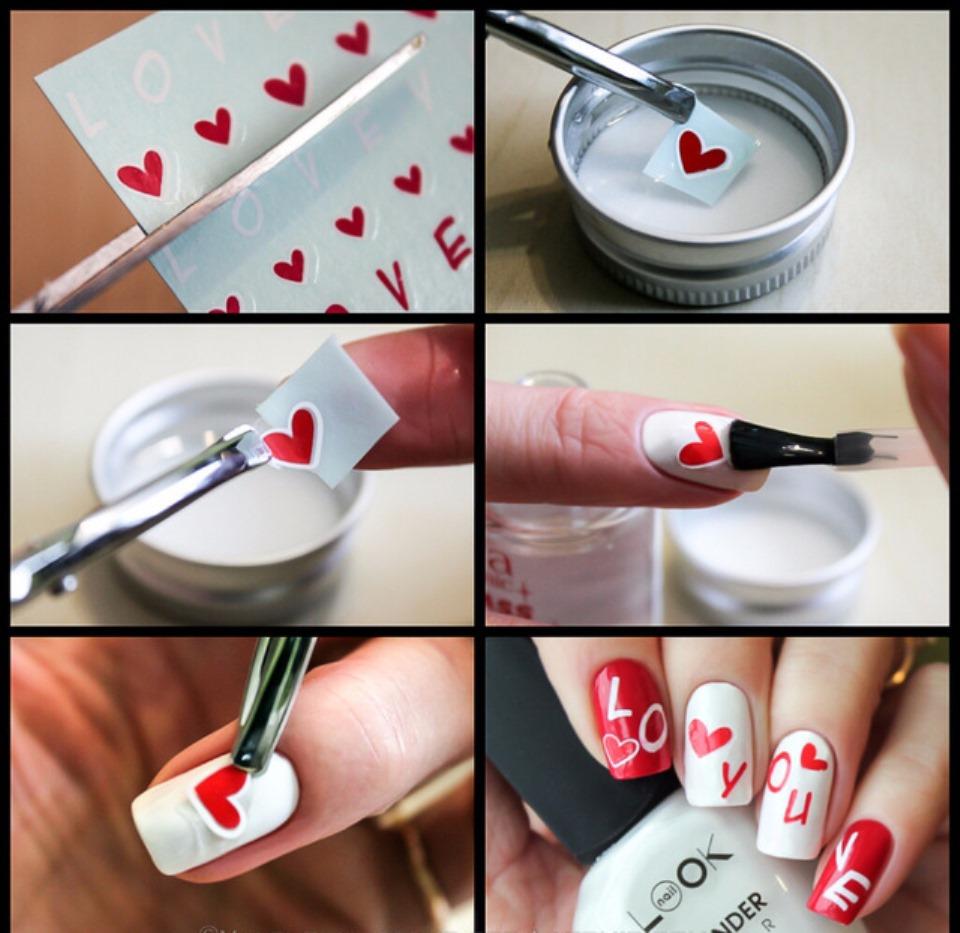 Как клеить картинки на ногти