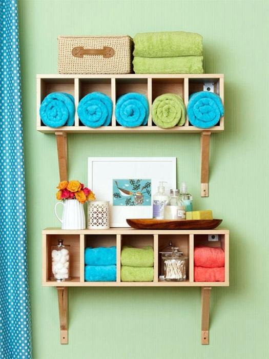 Организуйте пространство в ванной с помощью органайзеров и коробочек. / Фото:ustabor.uz