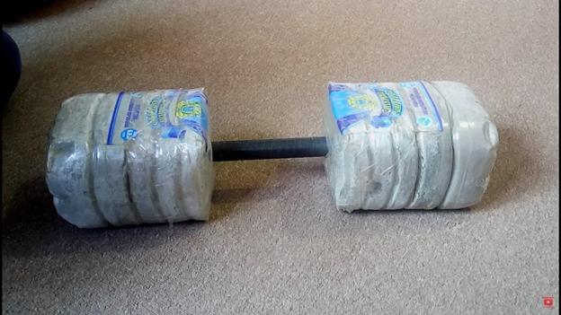 Самодельные гантели из бетона для дома и дачи,мастер-класс