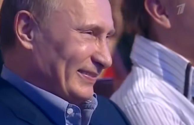 Путин угарает над пародией на самого себя! Талант Дмитрия Грачева!