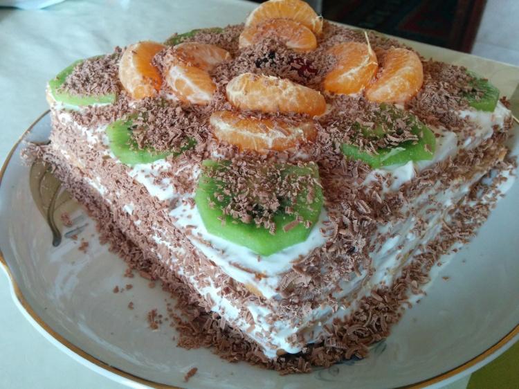 Торт за 20 минут без выпечки