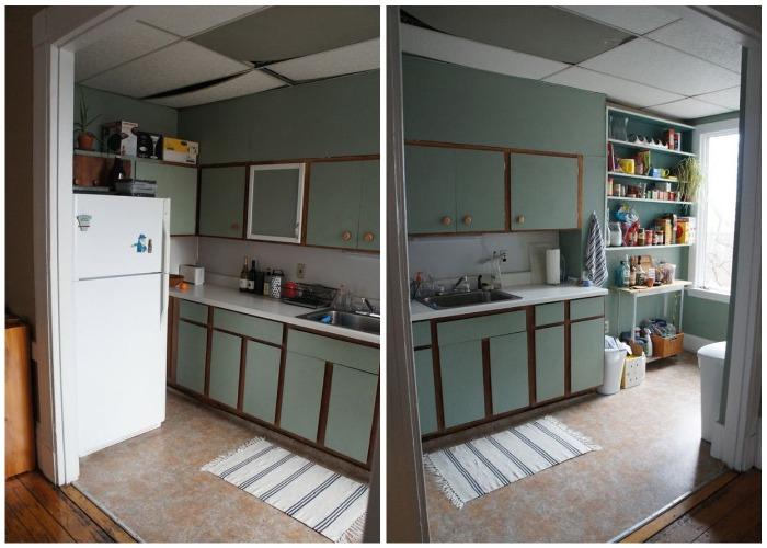 Состояние кухни до преобразования (Узкая кухня в старинном доме).