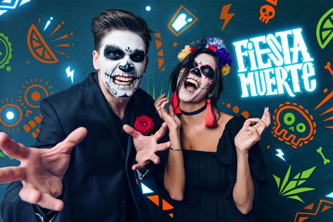 Мексиканская мифология и британская электроника на Olmeca Fiesta Muerte культура