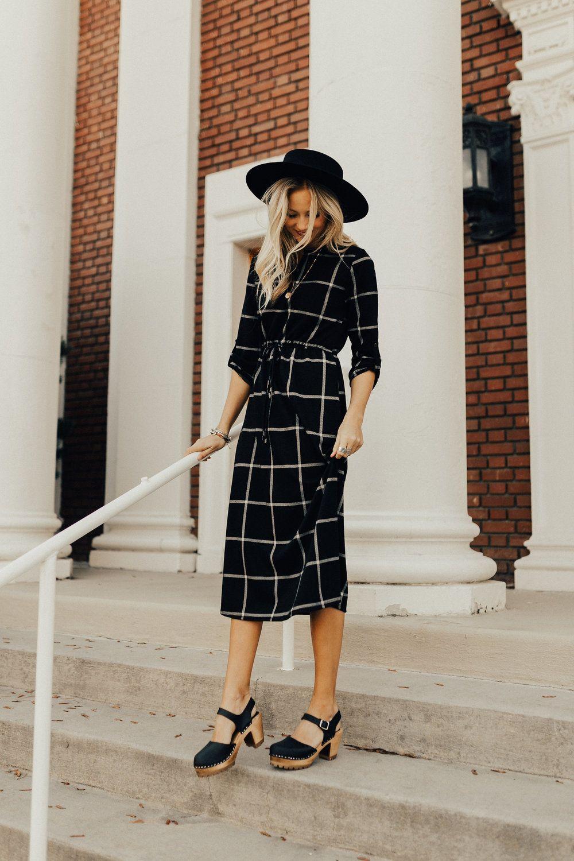 Женственные образы с платьями в клетку - 10 великолепных идей для незаурядных дам! мода,модный обзор,образ,Платья,стиль
