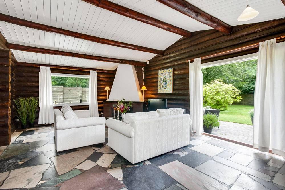 Эко-дизайн интерьера бревенчатого дома в Дании идеи для дома,интерьер и дизайн