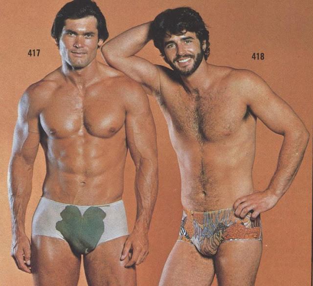 Винтажная реклама мужского нижнего белья в каталоге, 1970-е. было, история, фото
