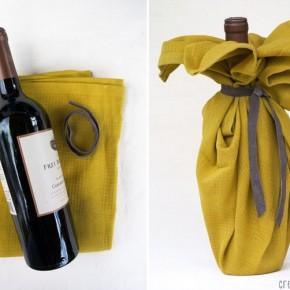 как упаковать бутылку в подарок