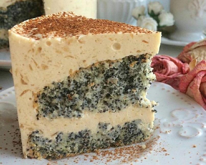 Волшебный вкусный тортик с маком без единой лишней калории