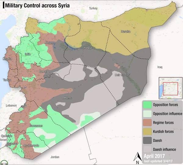 Размышления над картой Сирии