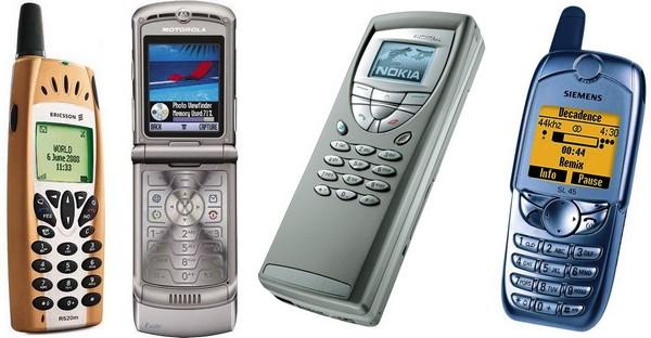 10 культовых телефонов прошлых лет