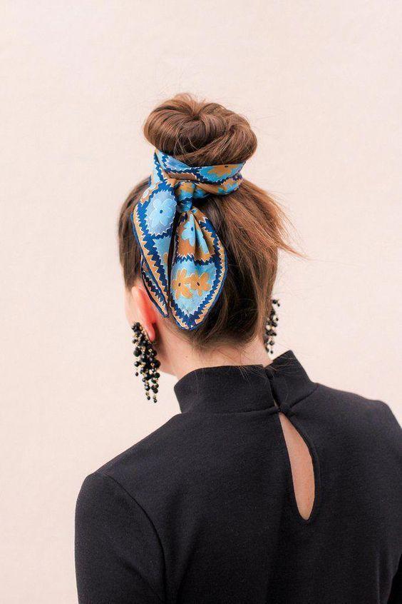 Модные прически с использованием платка вдохновляемся,красота,мода,прически