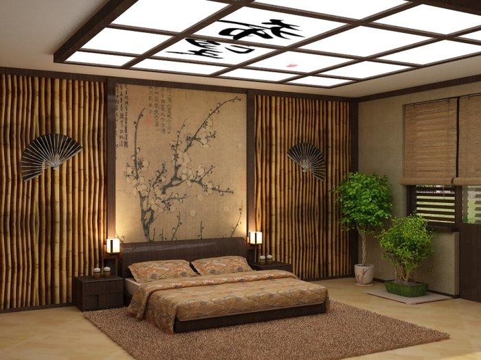 Бамбуковые изделия пользуются особенной популярностью в восточных стилях интерьера.