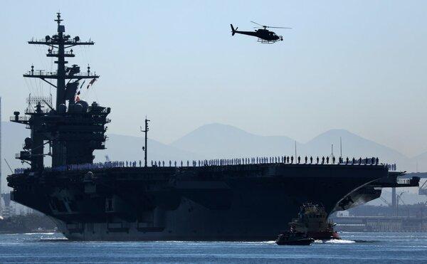 Иран пригрозил утопить авианосец США