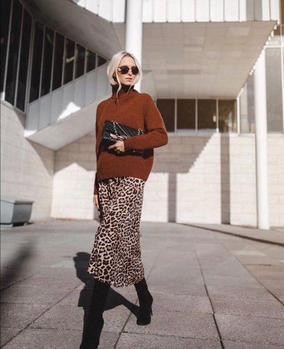 Леопардовая юбка 2019 как носить